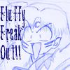 Fluffy freak out