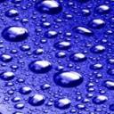 Water Bubbles Blue